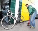 Karun Chandhok prepares his road bike