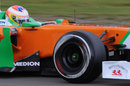 Paul di Resta on a run on the medium tyre