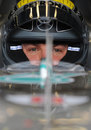 Nico Rosberg concentrates before heading out on track