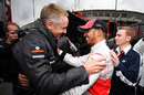Lewis Hamilton celebrates his victory with Martin Whitmarsh, German Grand Prix, Nurburgring, July 24, 2011