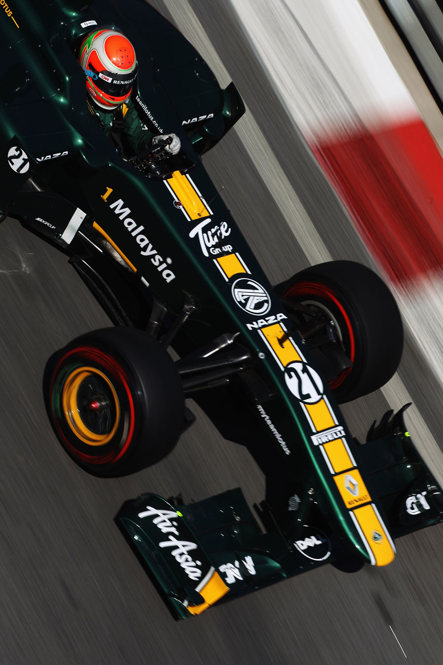 Jarno Trulli on track in the Lotus