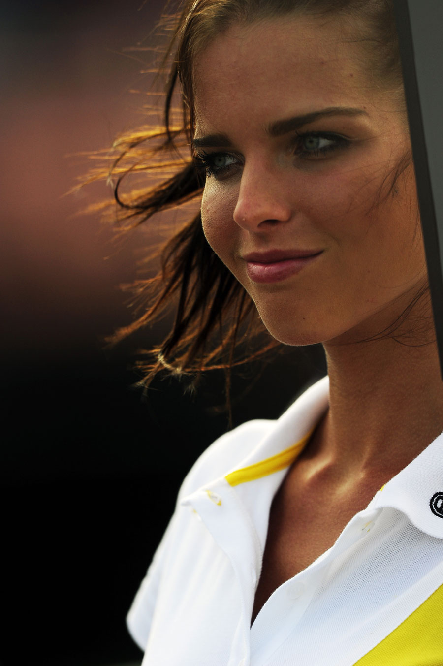 A grid girl ahead of Saturday's GP2 race