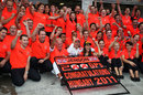 The McLaren team celebrate Jenson Button's victory, Hungarian Grand Prix, Budapest, July 31, 2011