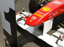 Fernando Alonso's Ferrari in parc ferme