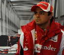 Felipe Massa in the Ferrari garage