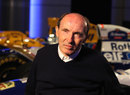 Sir Frank Williams talks to the media