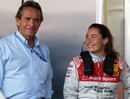 Jacky Ickx with his daughter Vanina in the pits