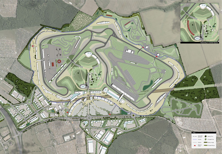 The long-term vision for Silverstone with hotels, technology park and business park