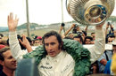 Jackie Stewart celebrates his victory at Kyalami