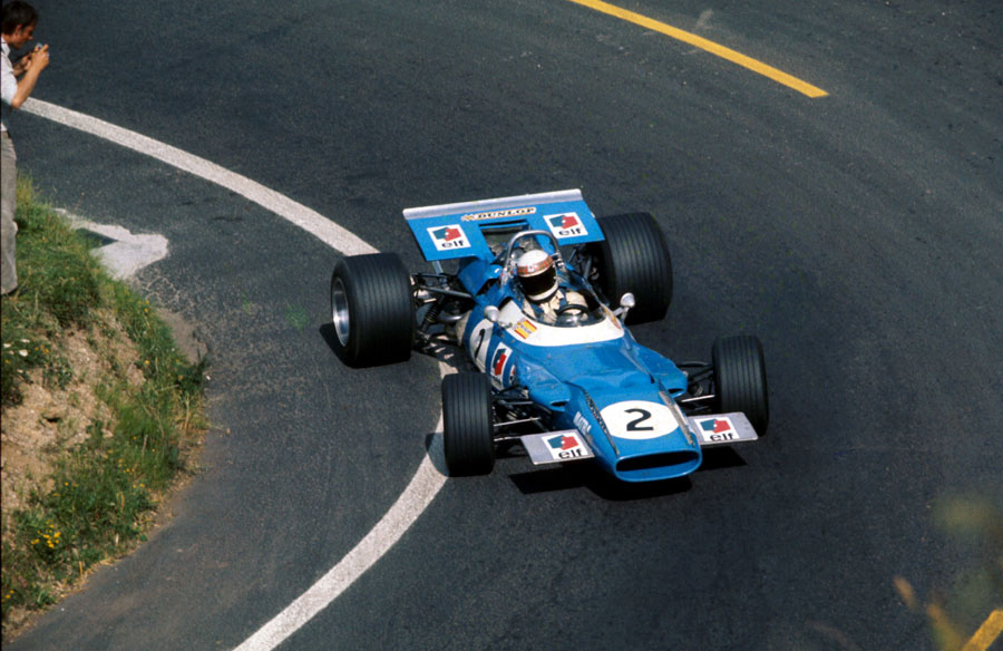 Jackie Stewart on his way to victory