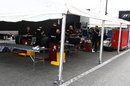 Pirelli workspace in the paddock