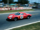 The Ferrari 250LM of Jochen Rindt and Masten Gregory on its way to victory
