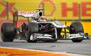Pastor Maldonado gets the power down in the Williams
