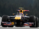 Mark Webber in action during FP2