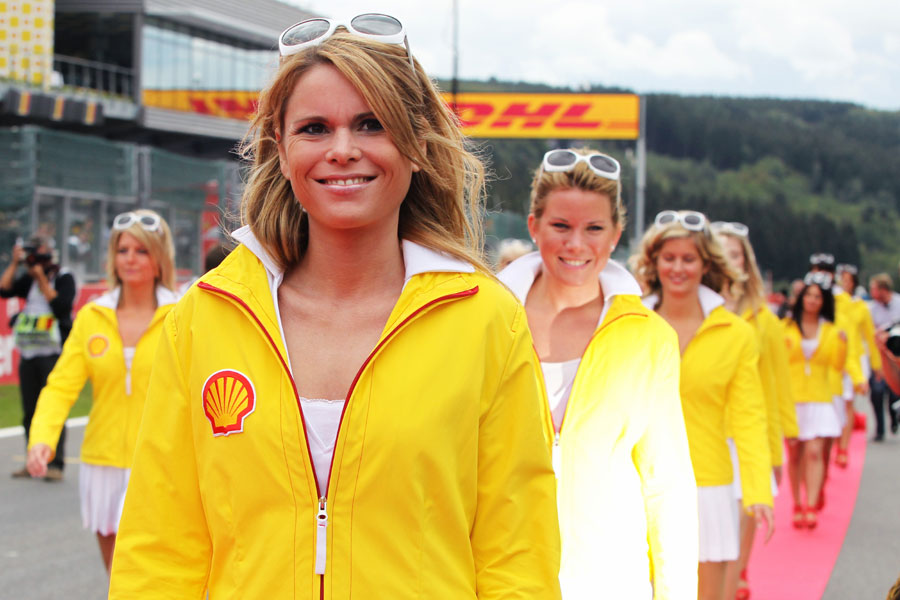Grid girl at Spa