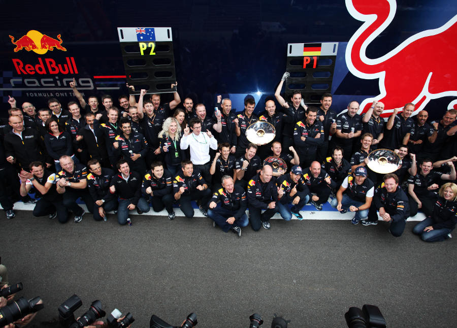 Red Bull celebrates its second one-two of the season