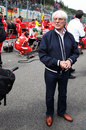Bernie Ecclestone on the grid