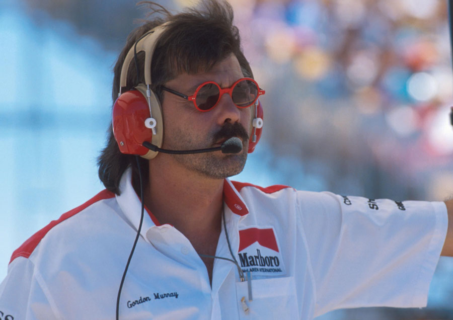 Gordon Murray on the pit wall