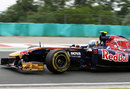 Jaime Alguersuari on track in the Toro Rosso