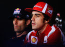 Fernando Alonso and Mark Webber in Thursday's press conference