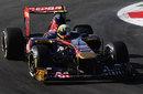 Jaime Alguersuari in the Toro Rosso with new CEPSA sponsorship