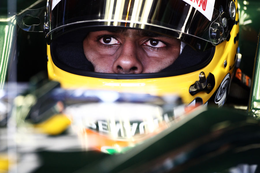Karun Chandhok watches the timing screens