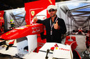 Jamiroquai front man Jay Kay in the Ferrari garage
