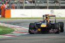Sebastian Vettel tackles the Ascari chicane