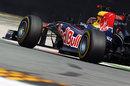 Sebastian Vettel on a run on soft tyres