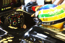 Bruno Senna in the cockpit of the Renault