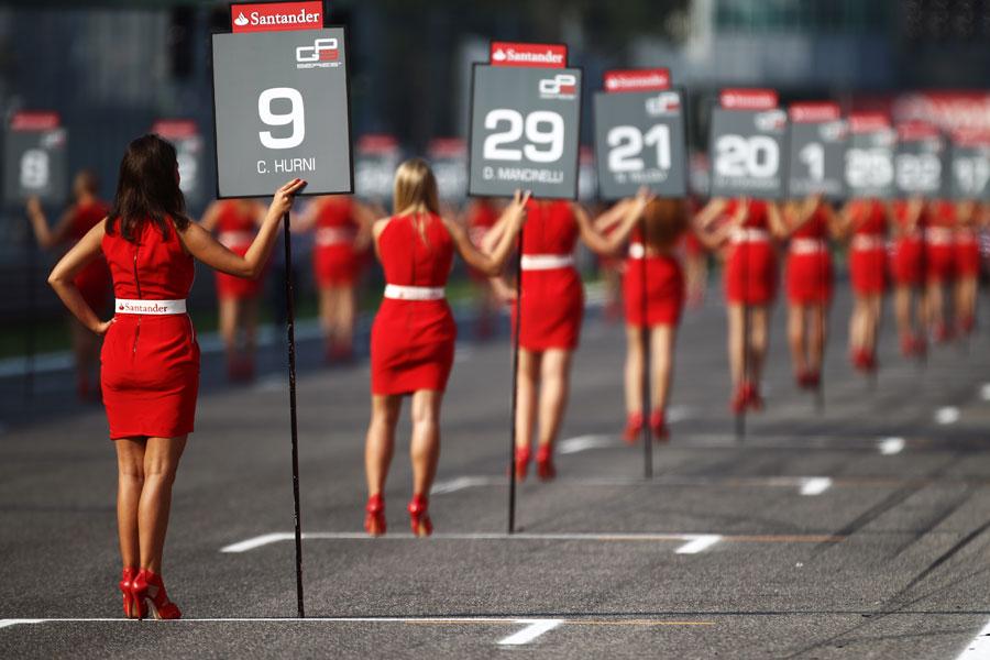 Grid girls ahead of the GP3 race