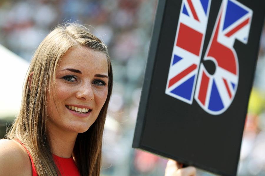 Grid girl ahead of the GP3 race