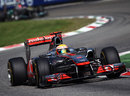 Lewis Hamilton speeds through Ascari
