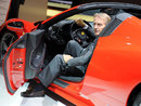 Luca di Montezemolo shows off the new Ferrari 458 Spider