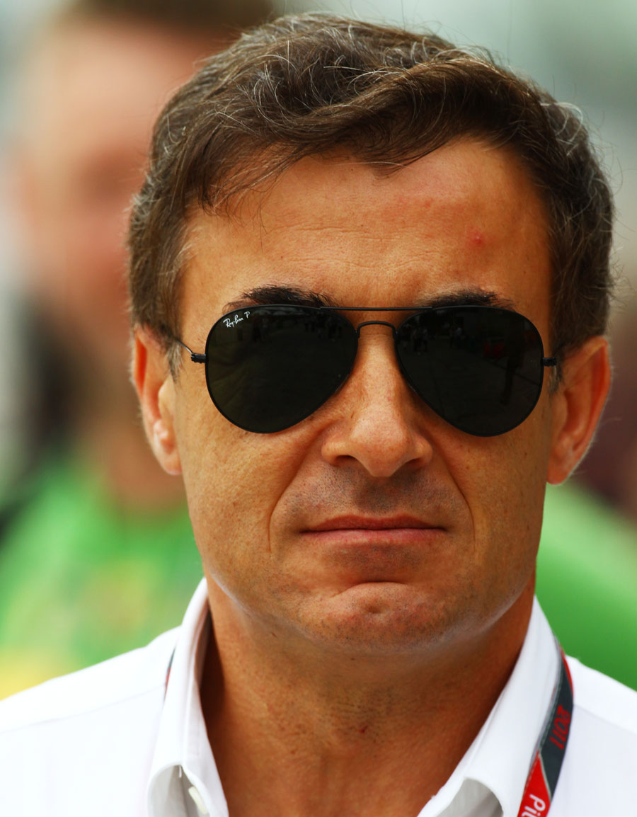 Jean Alesi in the paddock
