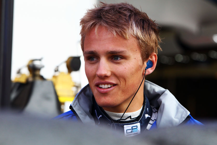 Max Chilton in the GP2 paddock