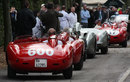Cars prepare to take to the track for the tribute to Juan Manuel Fangio