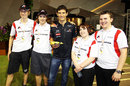Mark Webber with the F1 in Schools winners