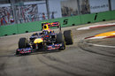 Mark Webber on a run on soft tyres