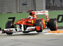 Fernando Alonso on maximum attack