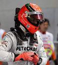 Michael Schumacher in parc ferme