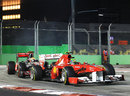 Lewis Hamilton punctures Felipe Massa's rear tyre