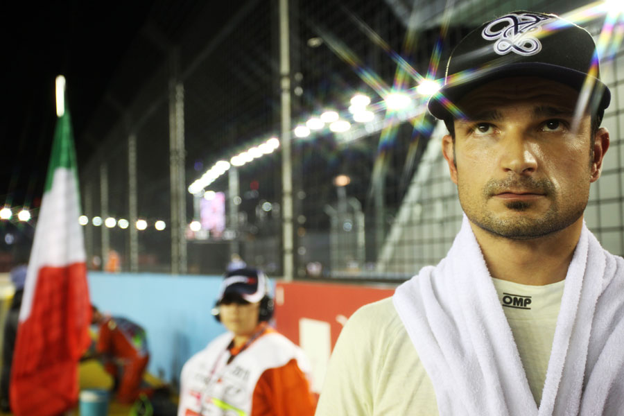 Vitantonio Liuzzi on the grid ahead of the race