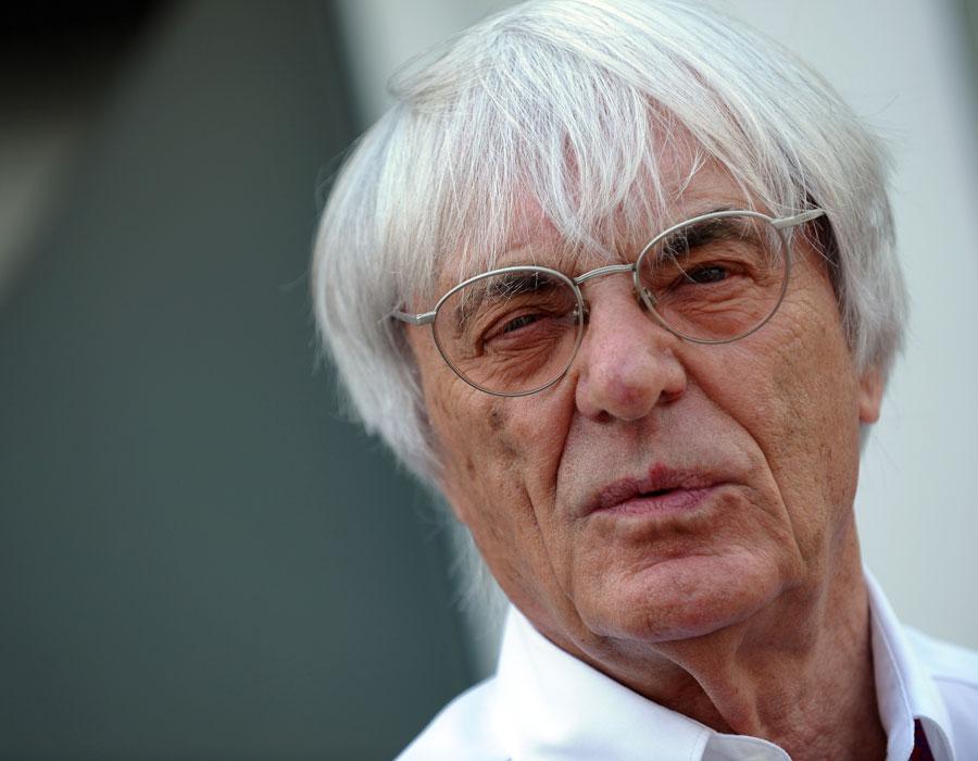 Bernie Ecclestone in the paddock on race day