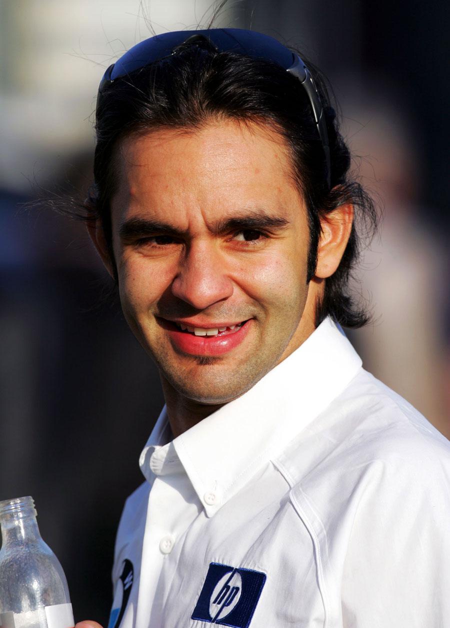 Antonio Pizzonia in the paddock