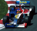 Jacques Villeneuve driving for BAR in front of his home crowd