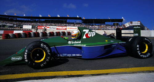 Bertrand Gachot negotiates the first corner at Interlagos