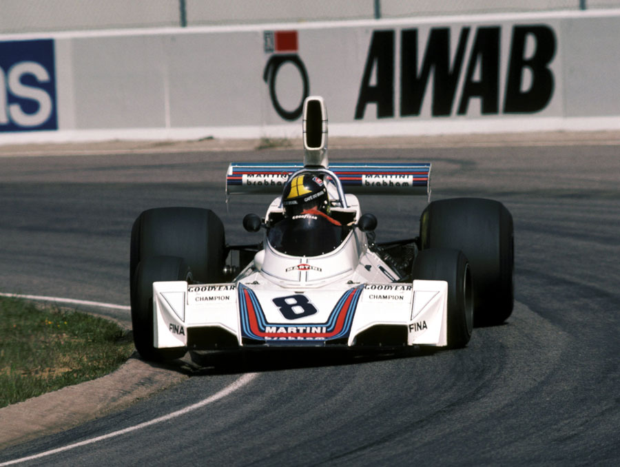Carlos Pace driving a Brabham at Anderstorp