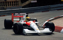 Ayrton Senna negotiates the Lowes Hairpin at Monaco