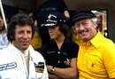 Mario Andretti with Lotus Boss Colin Chapman and son Clive Chapman